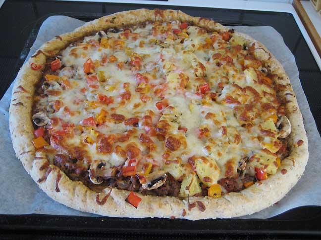 Den færdigbagte pizza
