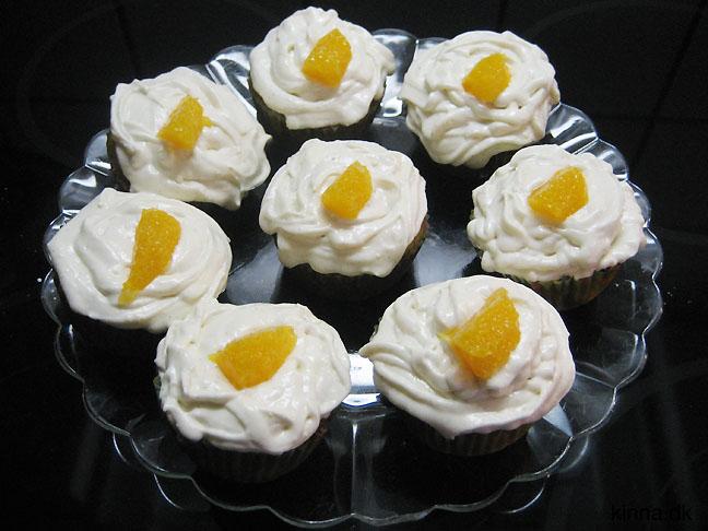 Appelsinmuffins med glasur