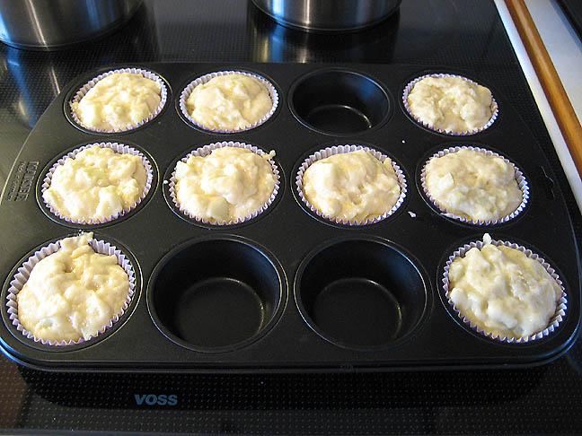 Muffins klar til ovnen