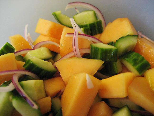 salat melon agurk