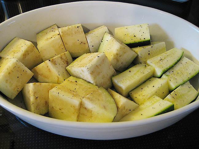 Grøntsager klar til ovnen
