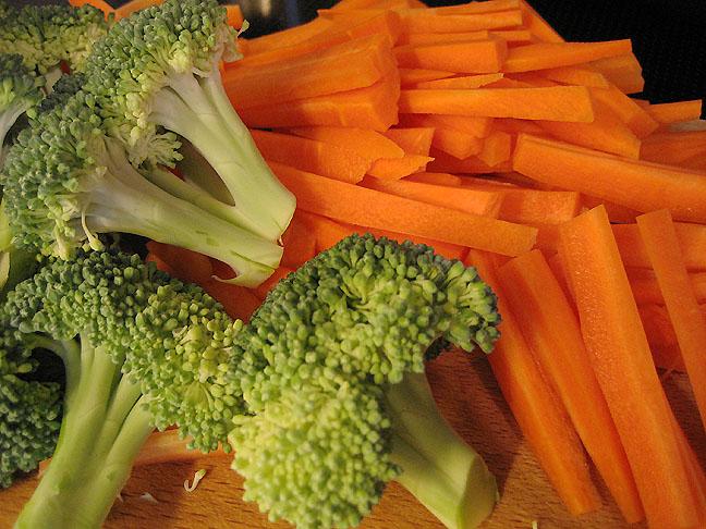 Broccoli og gulerødder