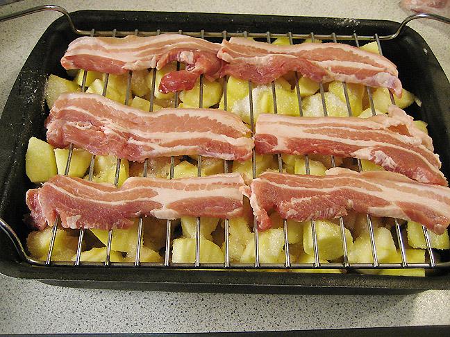 æbleflæsk med bacon