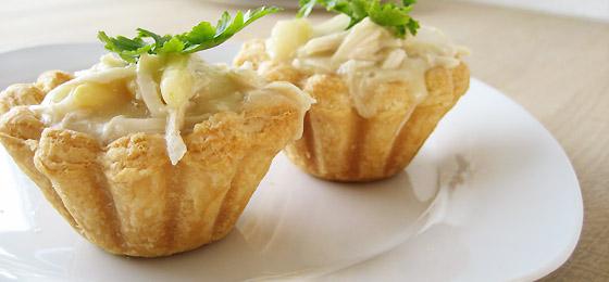 Tarteletter med kylling i asparges