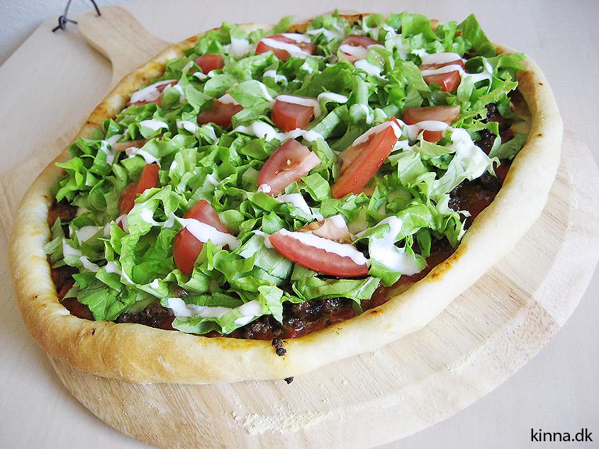 Den fædigbagte pizza