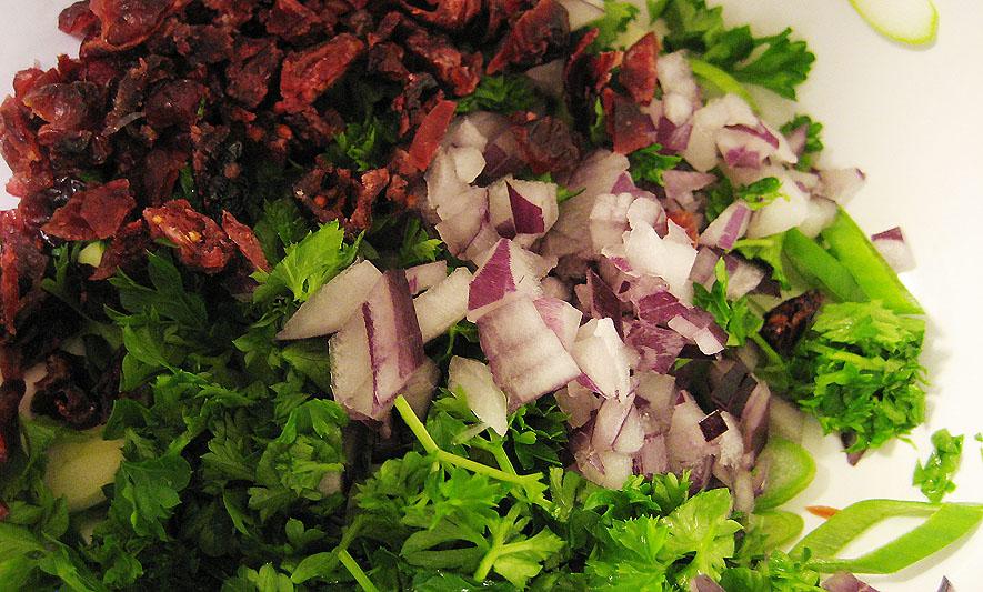 Ingredienser til salsa