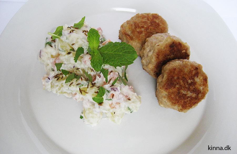 Eksotisk Kartoffelsalat Med Kokosmælk Græsk Yoghurt Mynte Og