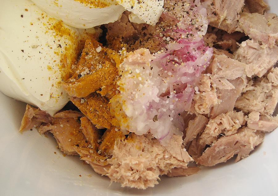 Ingredienser til tunmousse