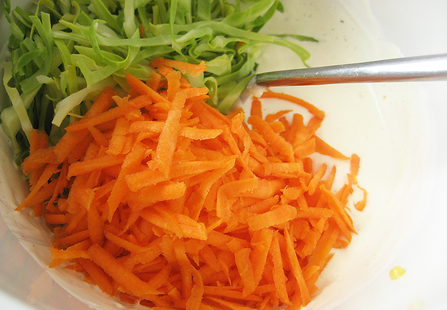 Ingredienser til Coleslaw