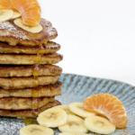 Lækre bananpandekager med havregryn og æg